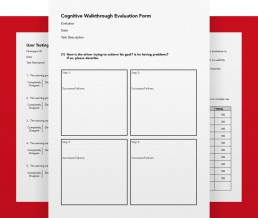 cognitive walkthough evaluation